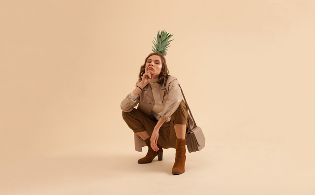 Fashion kleurt groen:  spiky pineapple en funky fungus