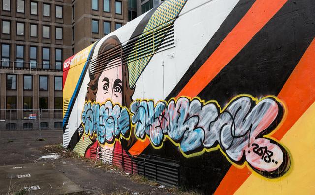 Hoe Anne Frank het middelpunt van een streetartfittie werd