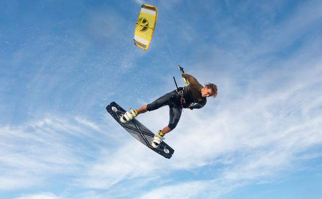 Passie: Rens is kitesurfer