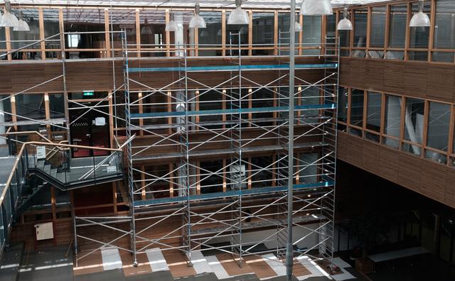 In beeld: de Fraijlemaborg in de steigers voor de eerste verbouwing