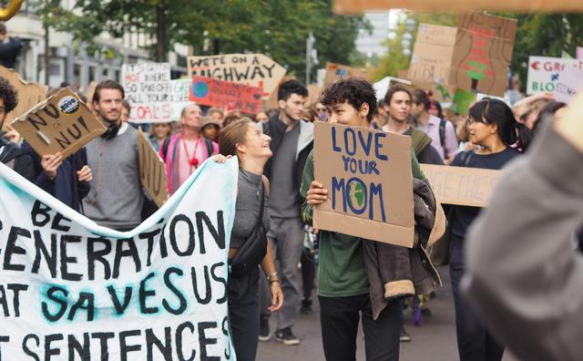 In beeld: deze studenten gingen de straat op voor het klimaat