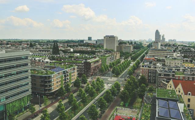 Hoe is het nu met de groene brug boven de Wibautstraat?
