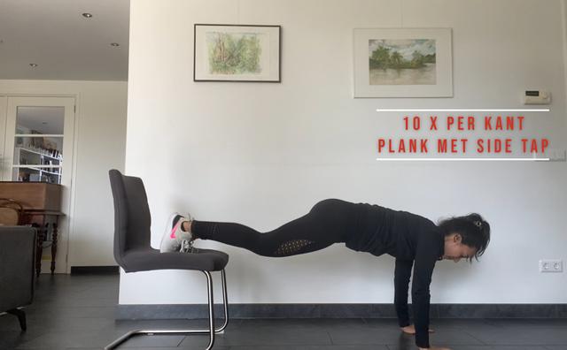 Billen van de bank en doe mee aan deze home-workout