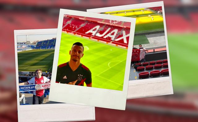Gespot: Ajax-fans moedigen hun club nu aan vanaf de bank
