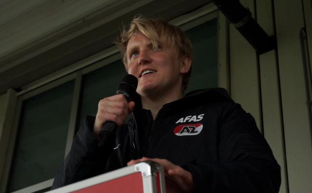 Jort is speaker bij voetbalclub AZ