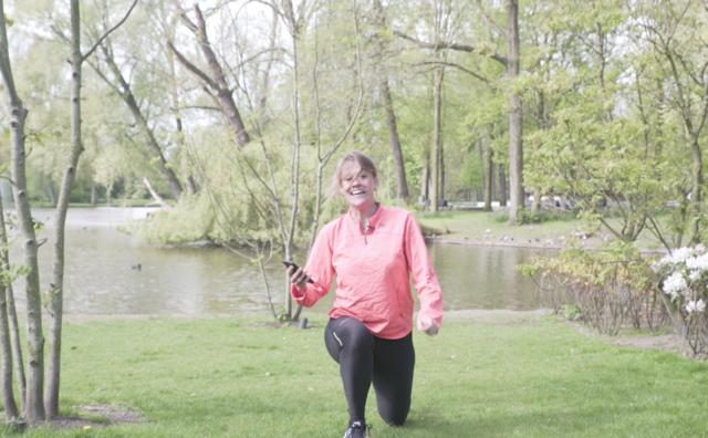 Joggen in het Oosterpark met de app van de HvA