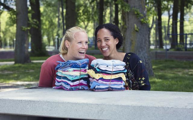 Puck en Emma bedachten abonnement op kleding: 'Handig en duurzaam'