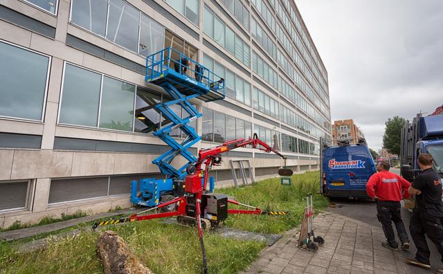 In beeld: de eerste werkzaamheden voor de bouw van het Conradhuis